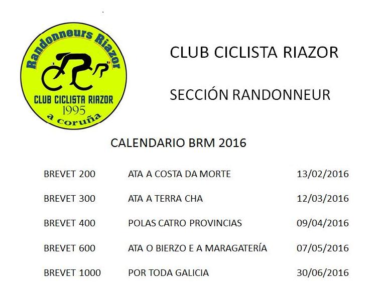 CCRiazor Brevet Randonneur 2016