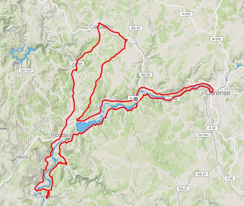 Recorrido oficial ruta Volta o Ribeiro